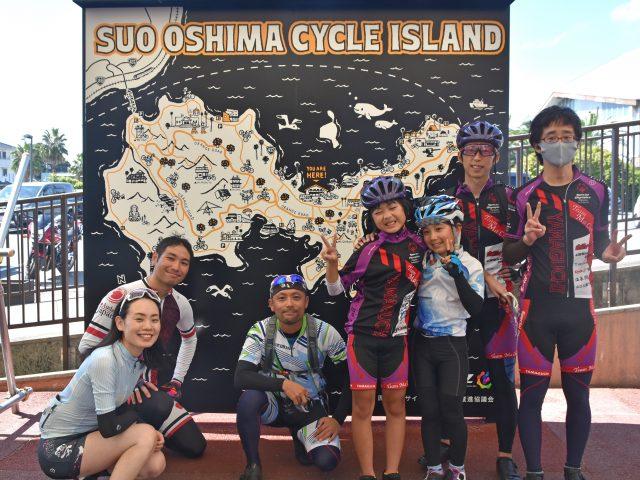 周防大島サイクリングマップ看板完成