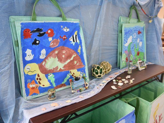海辺の工作と素敵なゴミ拾い箱作品展