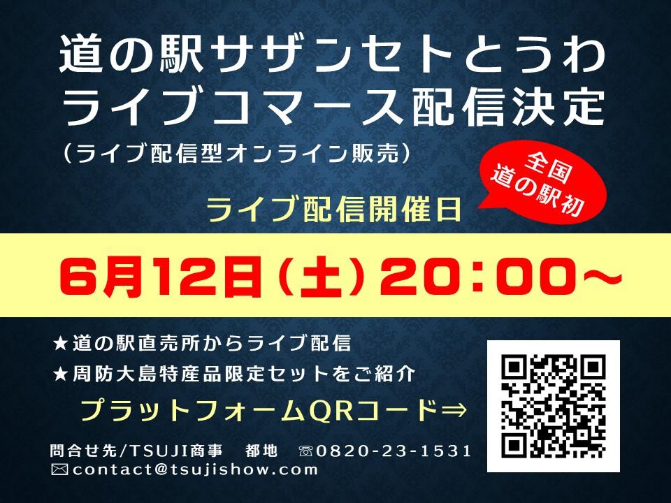6月12日(土)道の駅初ライブコマース配信決定