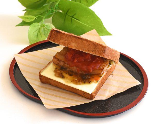 あしたば豚バーガー ¥450(税込)